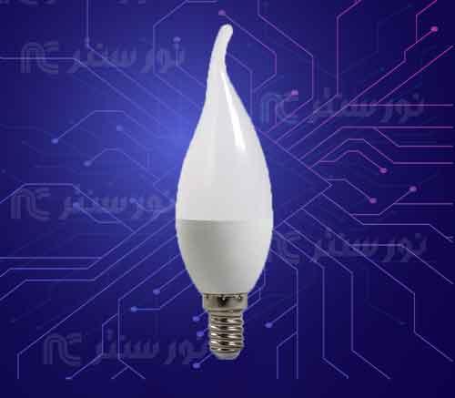 لامپ ای ای دی اشکی 7 وات (تک تاب)